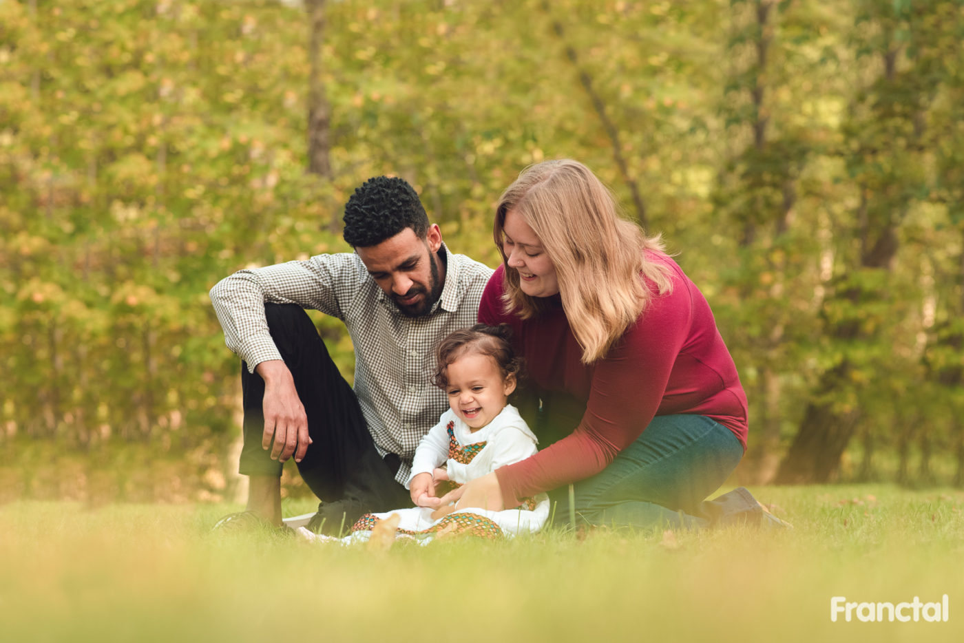 fall season family pictures at schenley park